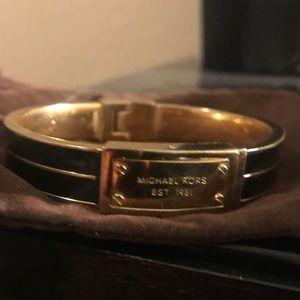 Michael Kors Black Enamel Bracelet w/gold hardware